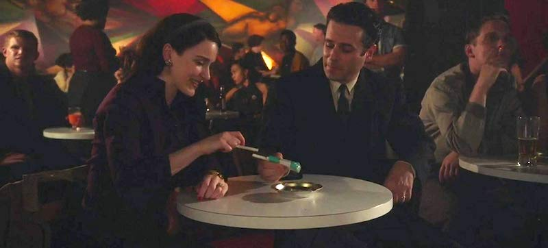 Rachel Brosnahan and Luke Kirby in The Marvelous Mrs. Maisel