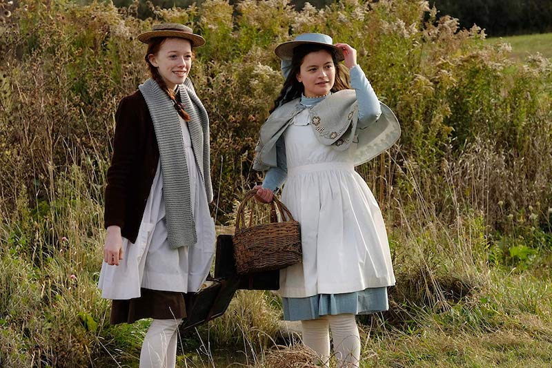 Amybeth McNulty and Dalila Bela in Anne with an E