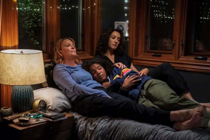 Laurel Hollowman, Jordan Hull and Jennifer Beals in The L Word: Generation Q