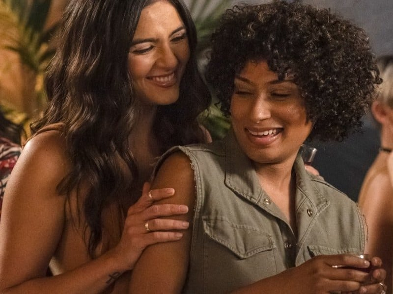 Arienne Mandi and Rosanny Zayas in The L Word: Generation Q
