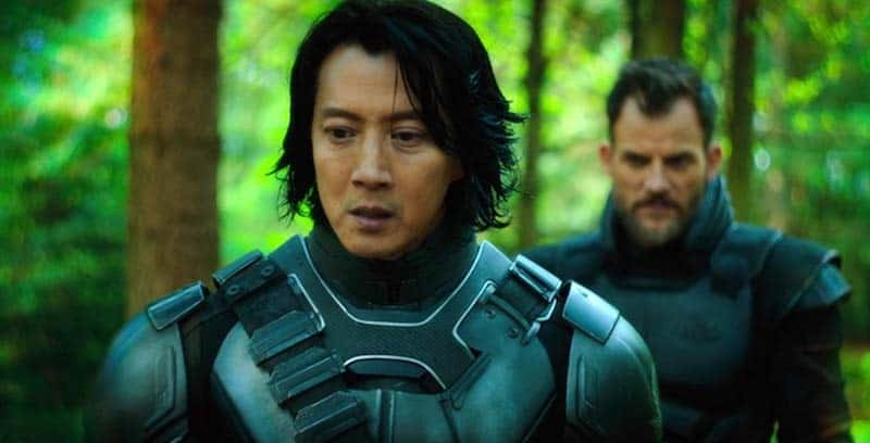 Torben Liebrecht and Will Yun Lee in Altered Carbon