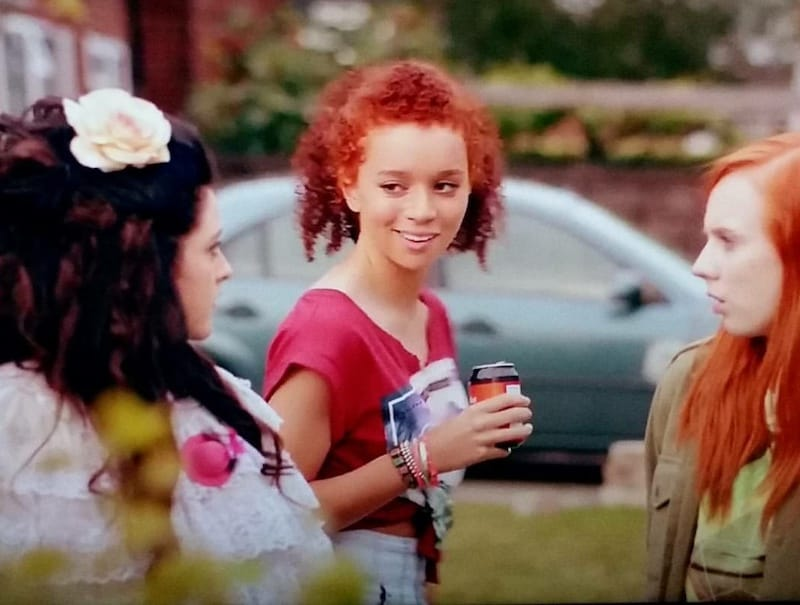 Helen Monks, Alexa Davies, and Erin Kellyman in Raised by Wolves
