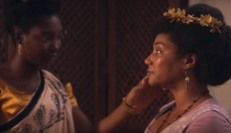 Mouna Traoré and Tiffany Haddish in Self Made