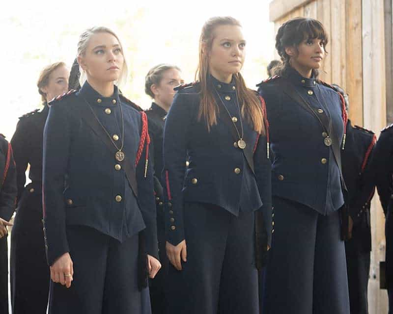 Taylor Hickson, Jessica Sutton, and Ashley Nicole Williams in Motherland Fort Salem