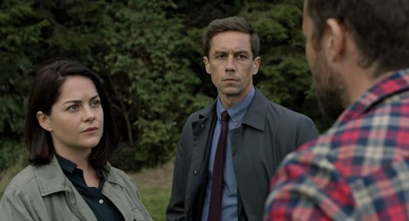 Jonathan Forbes, Sarah Greene, and Killian Scott in Dublin Murders