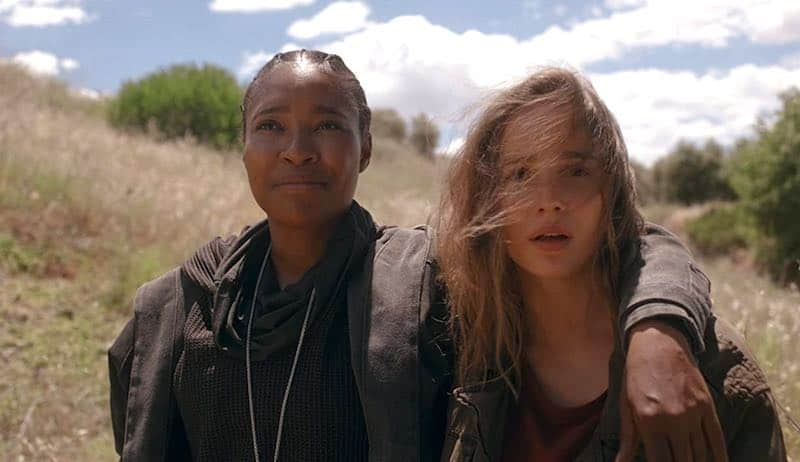 Toya Turner and Alba Baptista in Warrior Nun