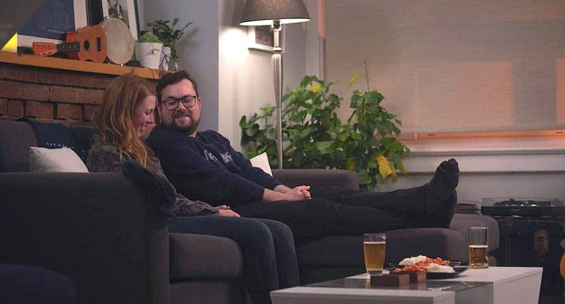 Kristian Bruun and Perrie Voss in Avocado Toast the series