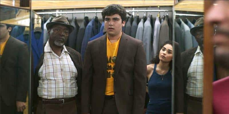 Chuck Cooper, Kevin Valdez, and Brittany O'Grady in Little Voice