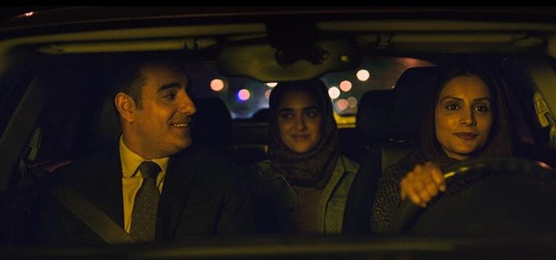 Purbi Joshi, Azad Khan, and Geraldine Viswanathan in Hala