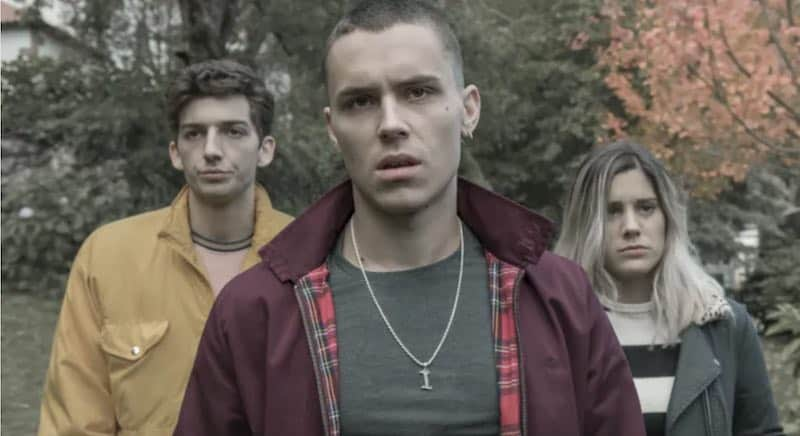 Roque Ruíz, Arón Piper and Isabel Garrido in The Mess You Leave Behind