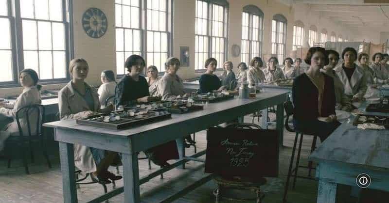 The women working at the radium factory