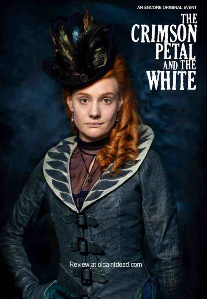The poster for The Crimson Petal and the White featuring an image of Romola Garai