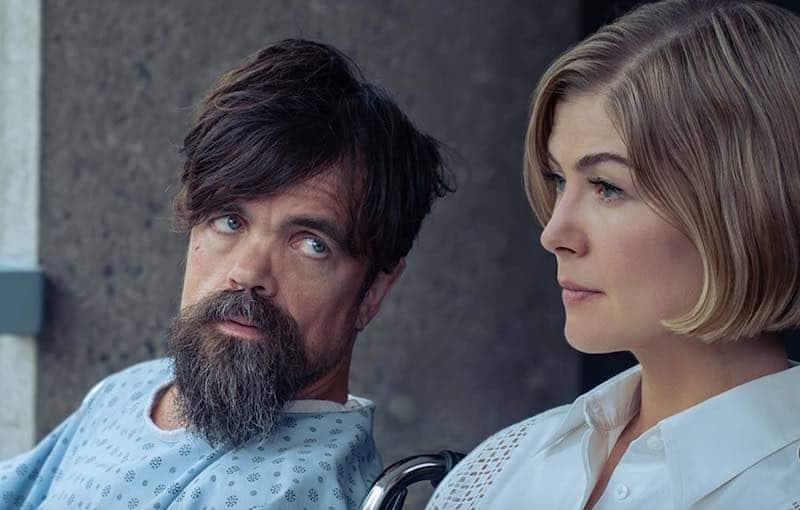 Peter Dinklage and Rosamund Pike in I Care a Lot