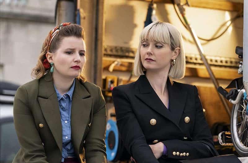 Lydia Wilson and Rebecca Benson in Flack