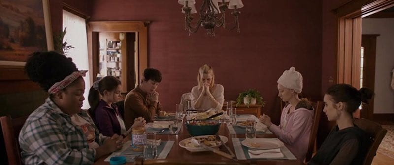 At the dinner table in To the Bone