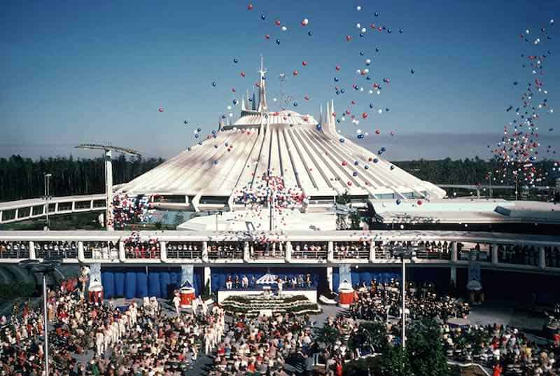 Space Mountain in Behind the Attraction