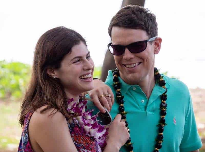 Alexandra Daddario and Jake Lacy in The White Lotus