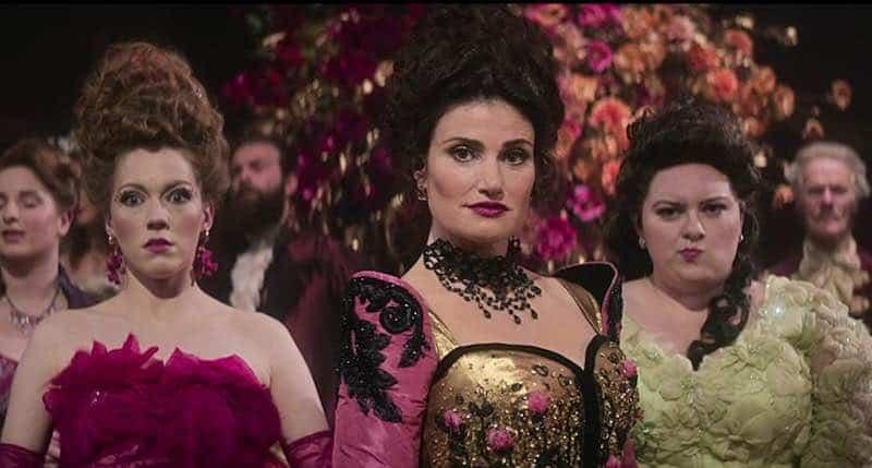 Charlotte Spencer, Maddie Baillio, and Idina Menzel in Cinderella
