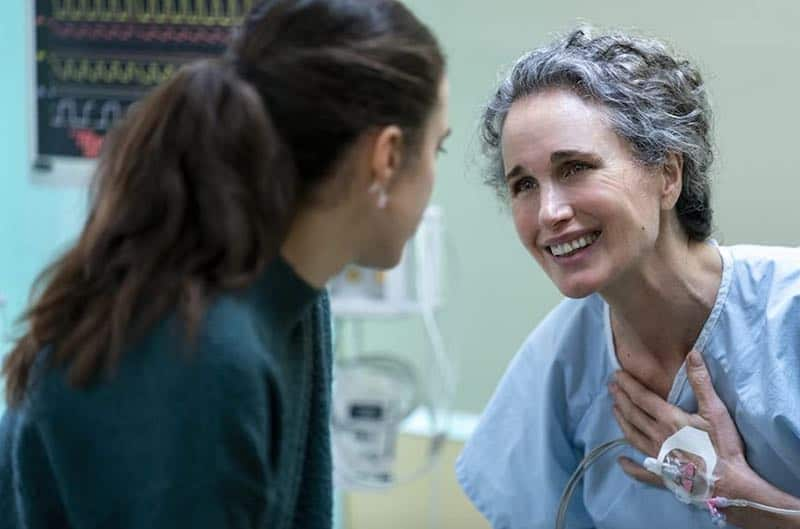 Andie MacDowell and Margaret Qualley in Maid