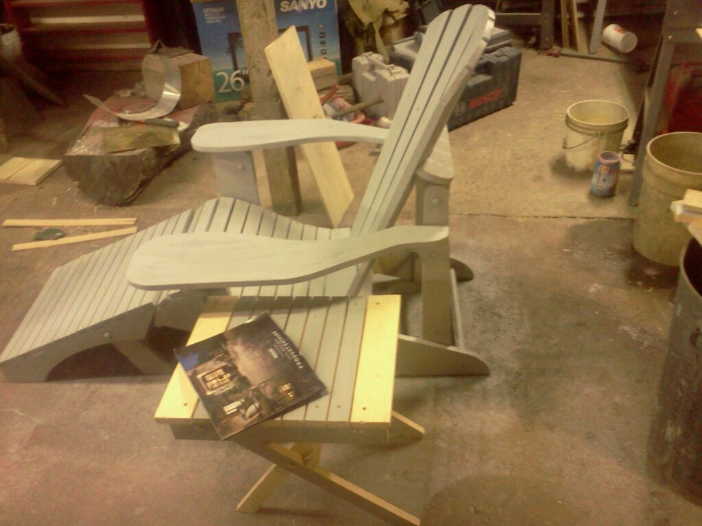 Old Barn Rustic Co 187 Cape Hatteras Folding Adirondack Chair
