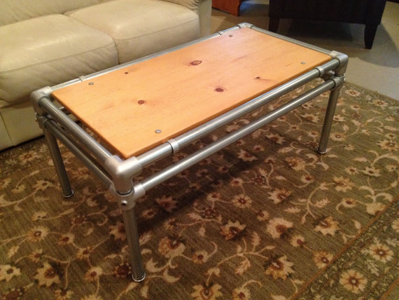 Old Barn Rustic Co 187 Galvanized Pipe Coffee Table