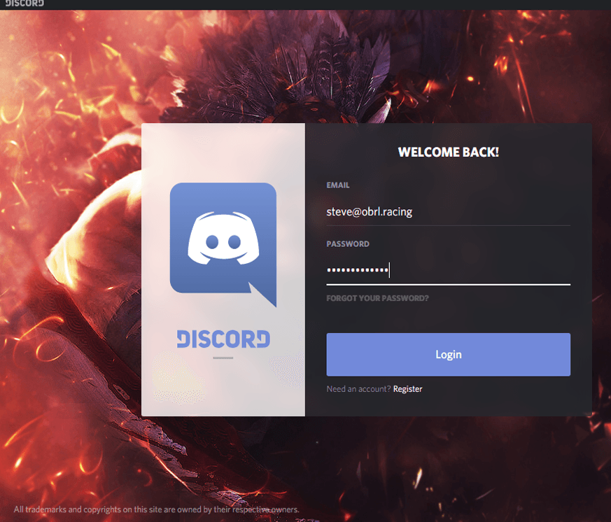 Login Discord   Old Bastards Racing League Discord Login Page Old Bastards Racing League