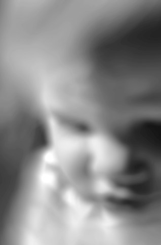 her small voice rising - 18 months old, beginning to find her voice, arising spontaneously from space