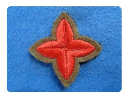 War certificate A badge