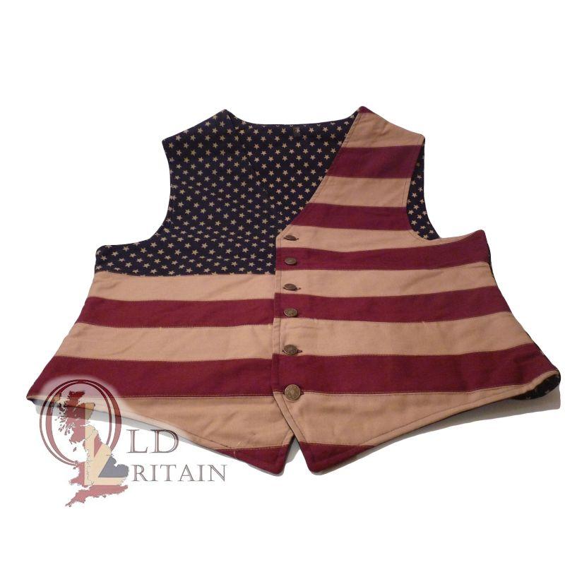 vintage American flag waistcoat