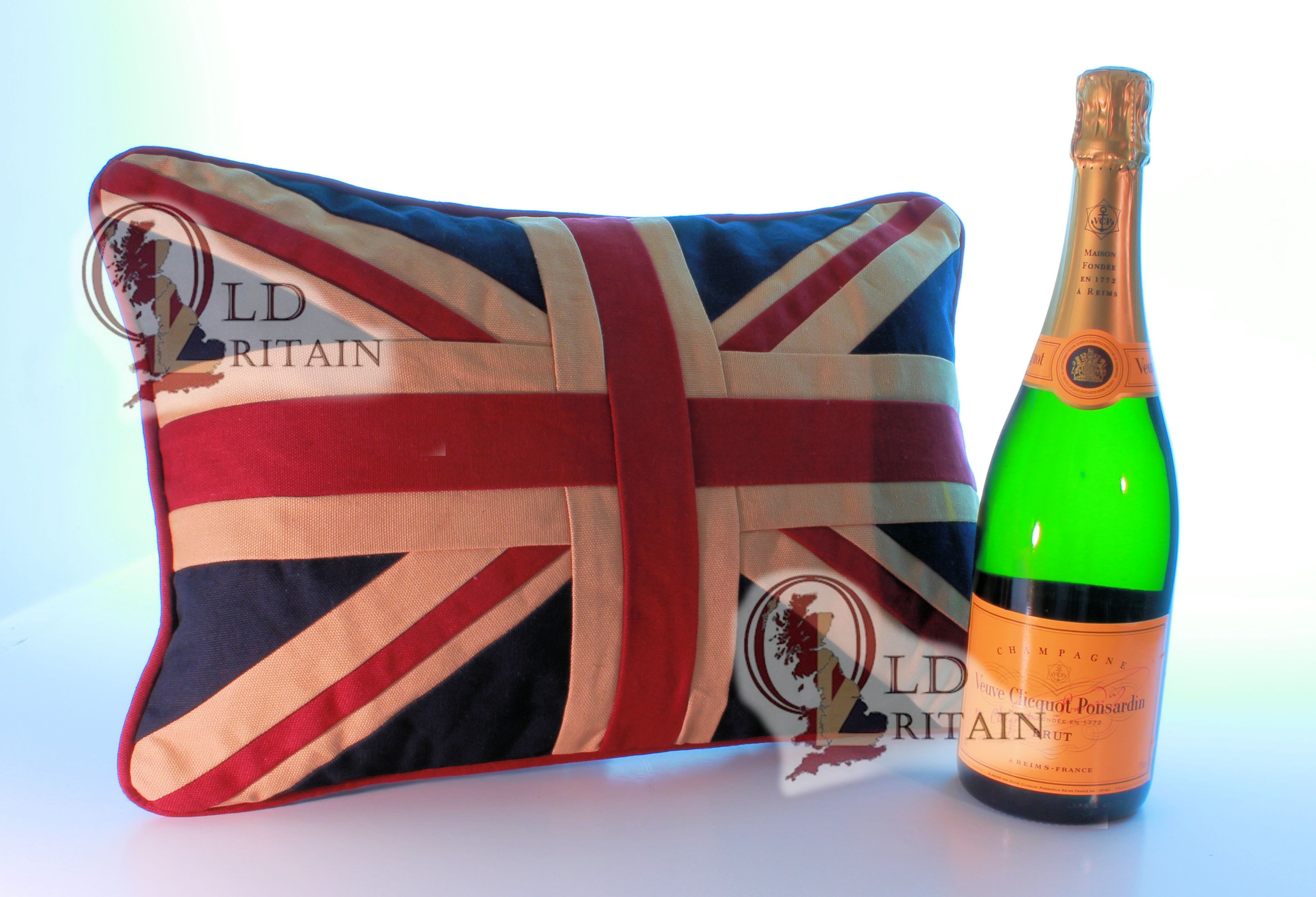 Two Vintage Union Jack Sofa Cushions Scatter Couch Pillows