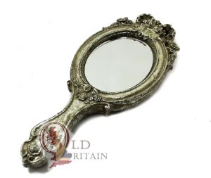 Silver Handheld Mirror