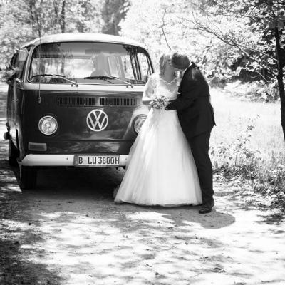 Hochzeitsauto Bulli
