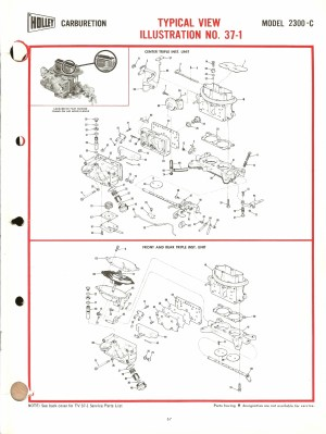 Holley 2300C Exploded Diagrams  The Old Car Manual Project