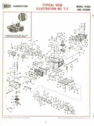 Holley 4150G and 4150MG Exploded Diagrams  The Old Car Manual Project