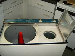 an old hoover twin tub washer