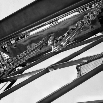 Black and White details of theMemorial bridge - Plymouth