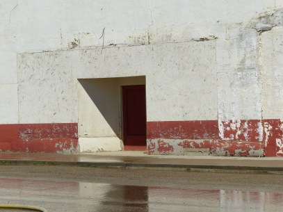 white red wall