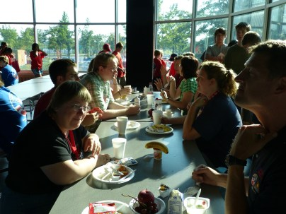 mealtime at space camp
