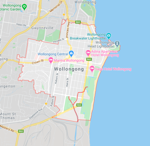 The suburb of Wollongong