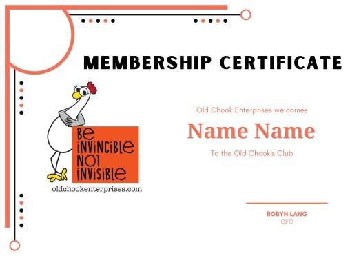 Membership cert