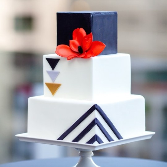 8 Square Wedding Cakes Perfect For A Modern Couple   Old Church Chapel 8 Square Wedding Cakes Perfect For A Modern Couple