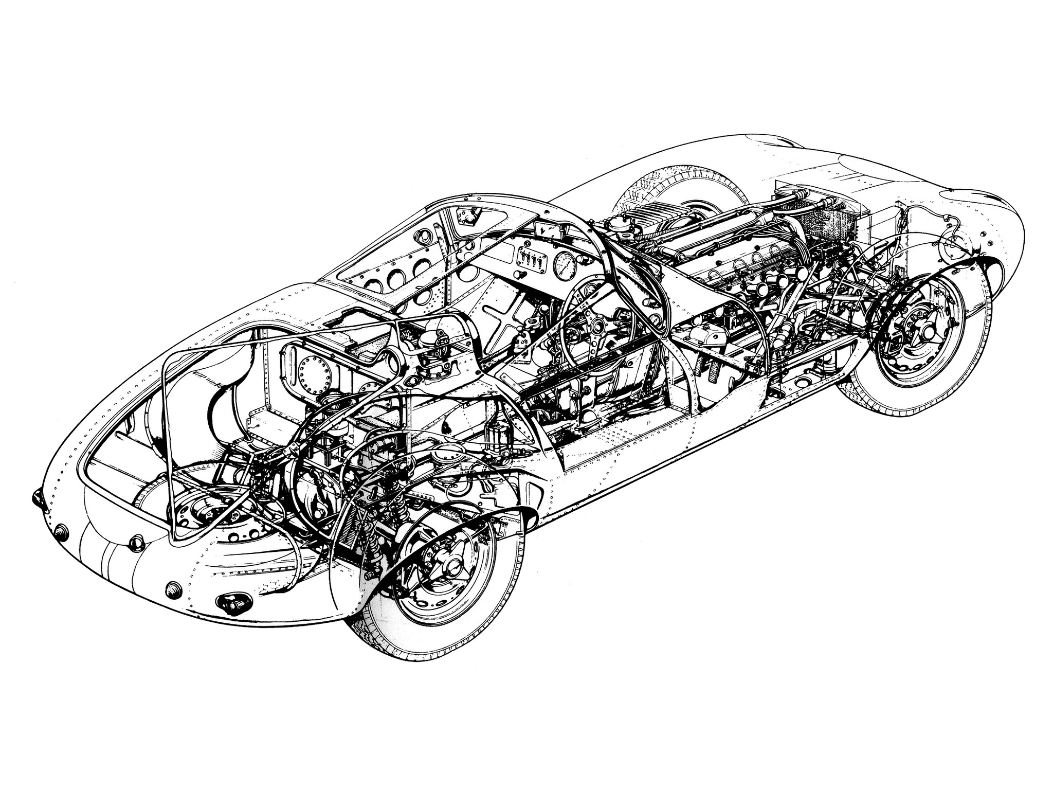 Jaguar E Type Prototype E2a Old Concept Cars