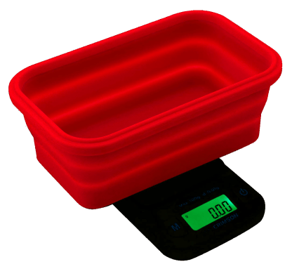Truweigh 100g scale with collapsible bowl