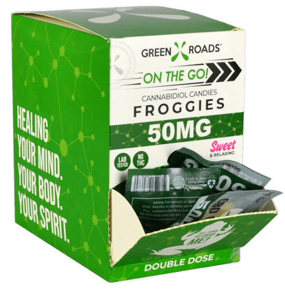 Green Roads 50 mg Froggies - 30 pc Display