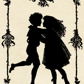 Silhouette of Children Dancing