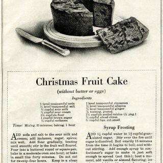 Vintage Christmas Fruit Cake Recipe