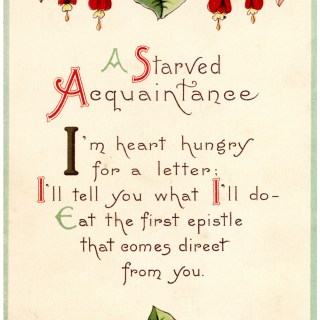 A Starved Acquaintance Vintage Card