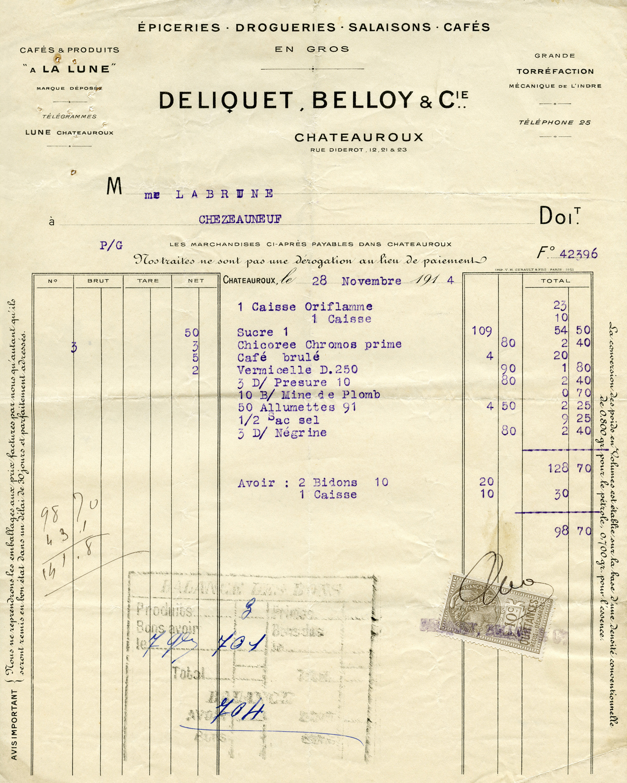 Vintage Invoice 115
