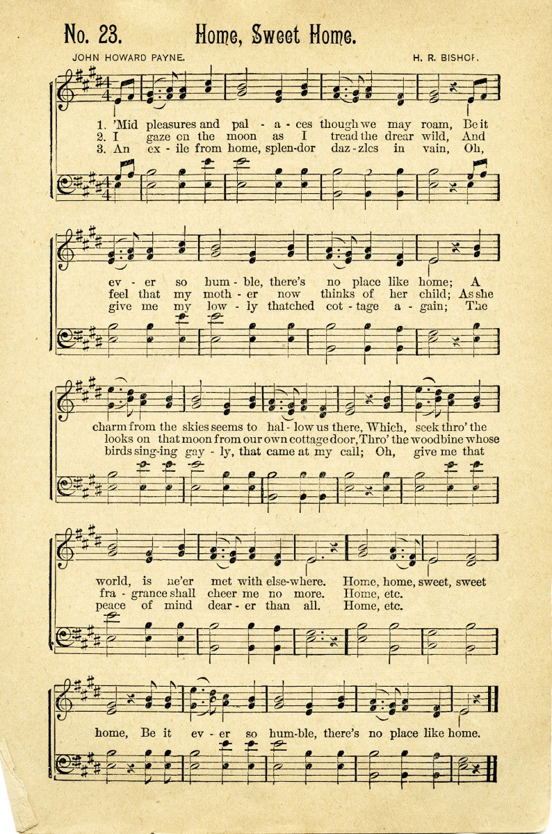 Home sweet home vintage song old design shop blog for Classic house songs