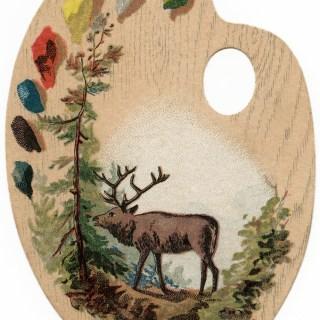 Moose or Elk Artist Palette Trade Card